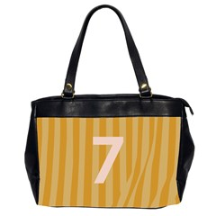 Number 7 Line Vertical Yellow Pink Orange Wave Chevron Office Handbags (2 Sides)  by Mariart