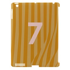 Number 7 Line Vertical Yellow Pink Orange Wave Chevron Apple Ipad 3/4 Hardshell Case (compatible With Smart Cover) by Mariart