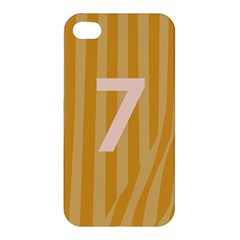 Number 7 Line Vertical Yellow Pink Orange Wave Chevron Apple Iphone 4/4s Premium Hardshell Case by Mariart