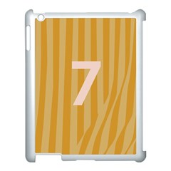 Number 7 Line Vertical Yellow Pink Orange Wave Chevron Apple Ipad 3/4 Case (white) by Mariart