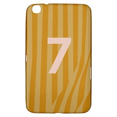 Number 7 Line Vertical Yellow Pink Orange Wave Chevron Samsung Galaxy Tab 3 (8 ) T3100 Hardshell Case  by Mariart