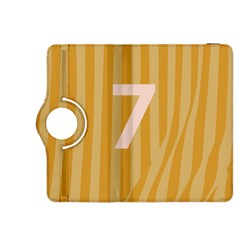 Number 7 Line Vertical Yellow Pink Orange Wave Chevron Kindle Fire Hdx 8 9  Flip 360 Case by Mariart