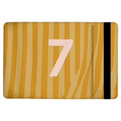 Number 7 Line Vertical Yellow Pink Orange Wave Chevron Ipad Air Flip by Mariart
