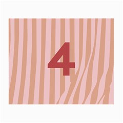 Number 4 Line Vertical Red Pink Wave Chevron Small Glasses Cloth by Mariart