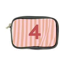 Number 4 Line Vertical Red Pink Wave Chevron Coin Purse by Mariart