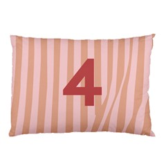 Number 4 Line Vertical Red Pink Wave Chevron Pillow Case (two Sides) by Mariart