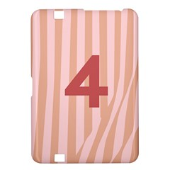 Number 4 Line Vertical Red Pink Wave Chevron Kindle Fire Hd 8 9  by Mariart