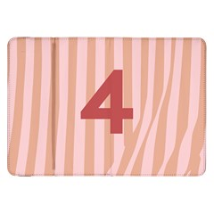 Number 4 Line Vertical Red Pink Wave Chevron Samsung Galaxy Tab 8 9  P7300 Flip Case by Mariart