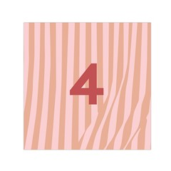 Number 4 Line Vertical Red Pink Wave Chevron Small Satin Scarf (square) by Mariart
