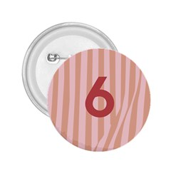 Number 6 Line Vertical Red Pink Wave Chevron 2 25  Buttons by Mariart
