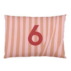 Number 6 Line Vertical Red Pink Wave Chevron Pillow Case by Mariart