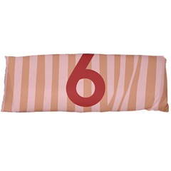 Number 6 Line Vertical Red Pink Wave Chevron Body Pillow Case (dakimakura) by Mariart