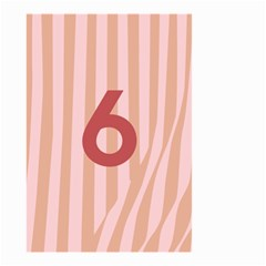 Number 6 Line Vertical Red Pink Wave Chevron Small Garden Flag (two Sides) by Mariart