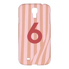 Number 6 Line Vertical Red Pink Wave Chevron Samsung Galaxy S4 I9500/i9505 Hardshell Case by Mariart