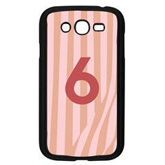 Number 6 Line Vertical Red Pink Wave Chevron Samsung Galaxy Grand Duos I9082 Case (black) by Mariart