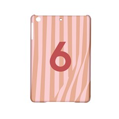 Number 6 Line Vertical Red Pink Wave Chevron Ipad Mini 2 Hardshell Cases by Mariart