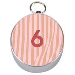 Number 6 Line Vertical Red Pink Wave Chevron Silver Compasses by Mariart