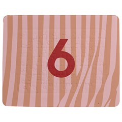 Number 6 Line Vertical Red Pink Wave Chevron Jigsaw Puzzle Photo Stand (rectangular) by Mariart