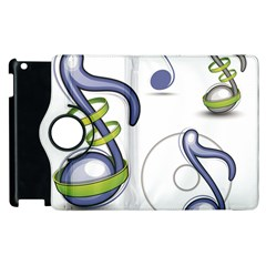 Notes Musical Elements Apple Ipad 2 Flip 360 Case by Mariart