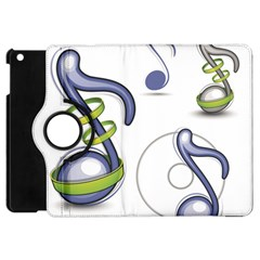 Notes Musical Elements Apple Ipad Mini Flip 360 Case
