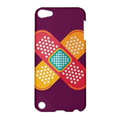 Plaster Scratch Sore Polka Line Purple Yellow Apple iPod Touch 5 Hardshell Case by Mariart