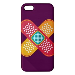 Plaster Scratch Sore Polka Line Purple Yellow Iphone 5s/ Se Premium Hardshell Case by Mariart