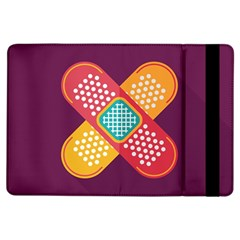 Plaster Scratch Sore Polka Line Purple Yellow Ipad Air Flip by Mariart