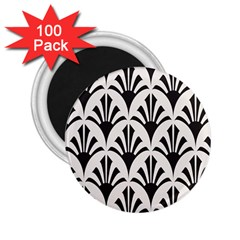 Parade Art Deco Style Neutral Vinyl 2 25  Magnets (100 Pack)  by Mariart