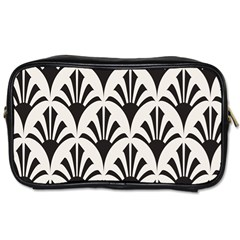 Parade Art Deco Style Neutral Vinyl Toiletries Bags by Mariart