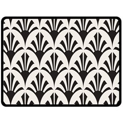 Parade Art Deco Style Neutral Vinyl Double Sided Fleece Blanket (large)  by Mariart
