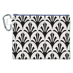 Parade Art Deco Style Neutral Vinyl Canvas Cosmetic Bag (xxl) by Mariart