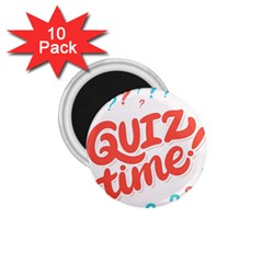 Question Mark Quiz Time 1 75  Magnets (10 Pack)  by Mariart