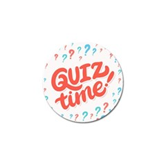 Question Mark Quiz Time Golf Ball Marker by Mariart