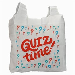 Question Mark Quiz Time Recycle Bag (two Side)  by Mariart