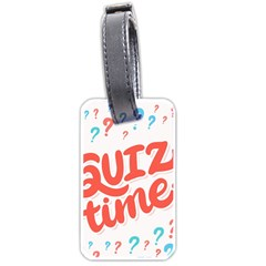 Question Mark Quiz Time Luggage Tags (one Side)  by Mariart