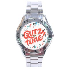 Question Mark Quiz Time Stainless Steel Analogue Watch by Mariart