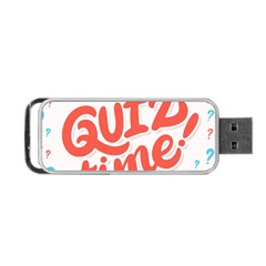 Question Mark Quiz Time Portable Usb Flash (two Sides) by Mariart