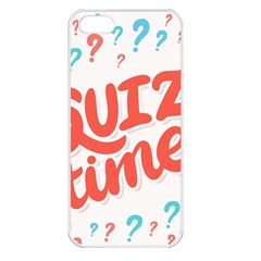 Question Mark Quiz Time Apple Iphone 5 Seamless Case (white) by Mariart