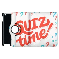 Question Mark Quiz Time Apple Ipad 2 Flip 360 Case by Mariart