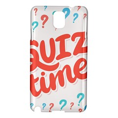 Question Mark Quiz Time Samsung Galaxy Note 3 N9005 Hardshell Case by Mariart