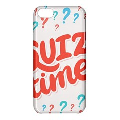 Question Mark Quiz Time Apple Iphone 5c Hardshell Case by Mariart