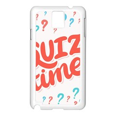 Question Mark Quiz Time Samsung Galaxy Note 3 N9005 Case (white) by Mariart