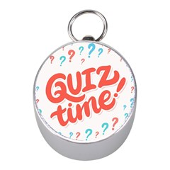 Question Mark Quiz Time Mini Silver Compasses by Mariart