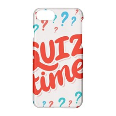 Question Mark Quiz Time Apple Iphone 7 Hardshell Case by Mariart