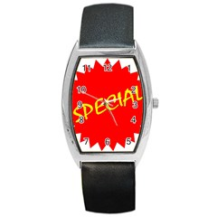 Special Sale Spot Red Yellow Polka Barrel Style Metal Watch by Mariart