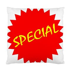 Special Sale Spot Red Yellow Polka Standard Cushion Case (two Sides) by Mariart