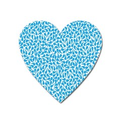 Pattern Blue Heart Magnet by Mariart