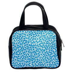 Pattern Blue Classic Handbags (2 Sides) by Mariart