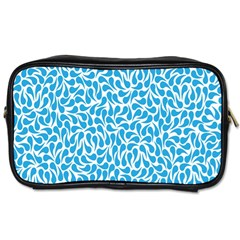 Pattern Blue Toiletries Bags by Mariart