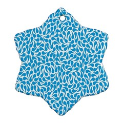 Pattern Blue Snowflake Ornament (two Sides) by Mariart